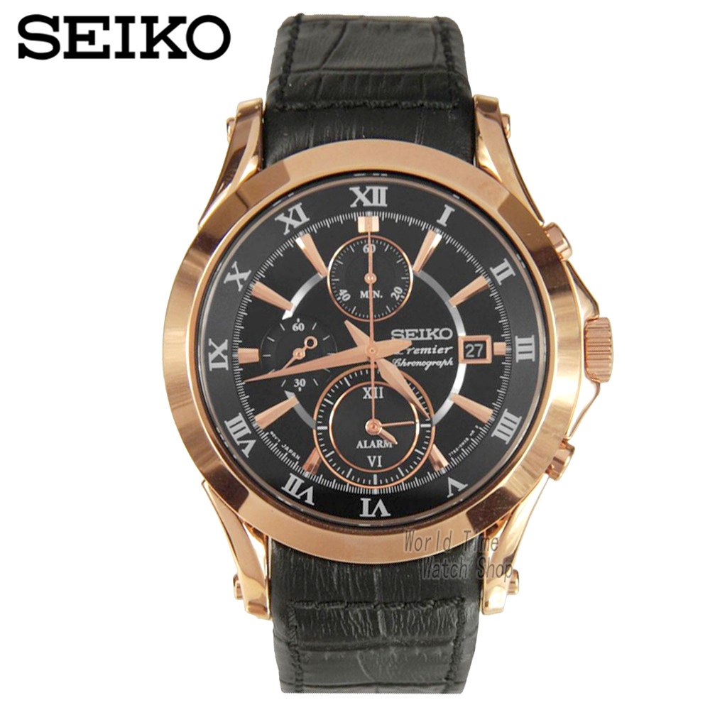 Seiko Watch Premier Series Sapphire Chronograph Quartz Men 's Watch SNAF24P1 seiko premier snq144j1