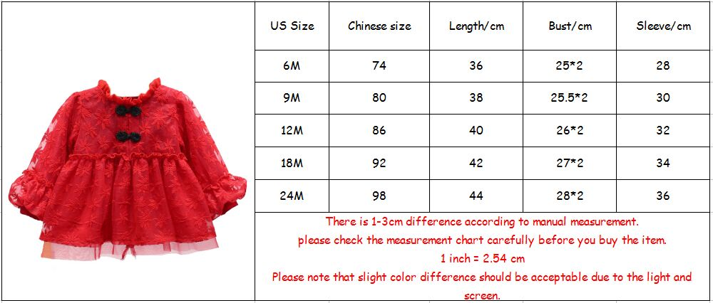 Image 5 - Baby Girls Infant Dress&clothing Autumn Chinese Style Embroidery Lantern Sleeve Kids Party Birthday Outfits Christening 3ColorDresses   -