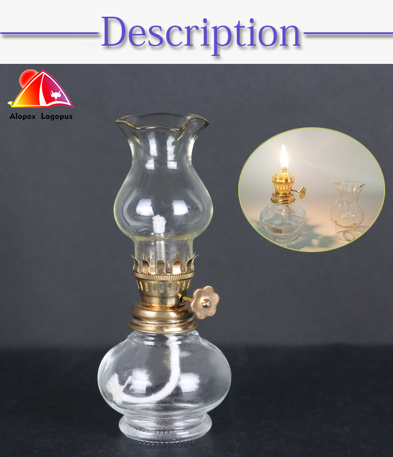 Small Replacement Glass Cylinder for Oil lamp and Kerosene Lamp