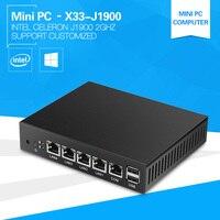 4 Ethernet Lan Mini PC Idustrial Routers J1900 Quad Core Celeron Desktop Computer 2 0Ghz Windows10