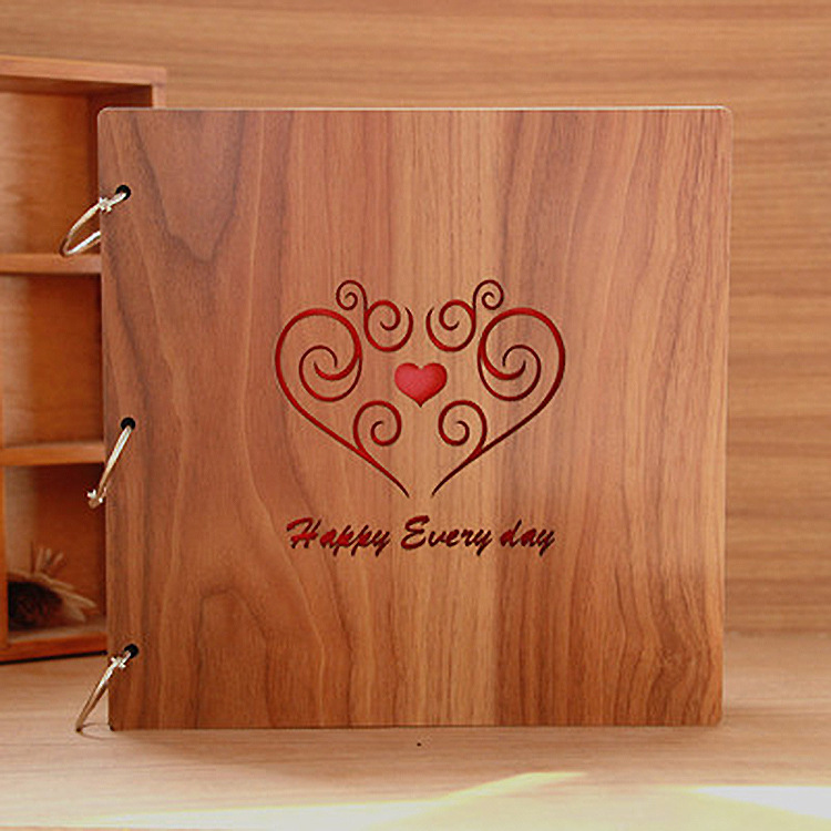 New Diy Handmade Creative Albums Romantic Souvenir: Creative Wooden Children Diy Photo Album Scrapbooking