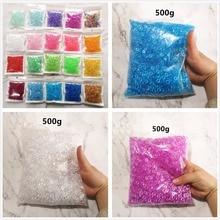 500 г, 21 цвет, прозрачная миска для риса, плоские бусины, прозрачная зеркальная игрушка «сделай сам», слайм ручной работы, кристальная грязь, частицы наполнителя