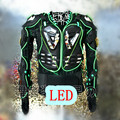 Fluorescent clothing show pair of new LED laser armour male singer DS two pieces lens atmospheric male dance costumes