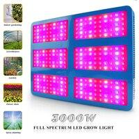 3000 Вт привело светать полный спектр для сада парниковых овощи цветы phytolamps гидропонные системы растут свет