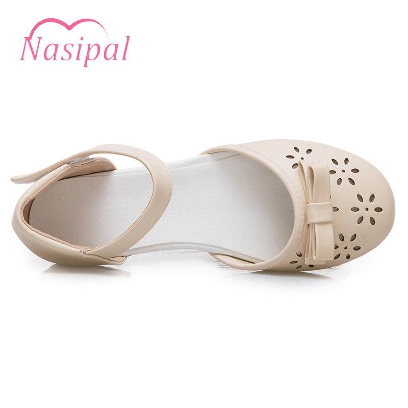 3b9651c1 Redonda Nueva Zapatos Beige Plano Verano rosado blanco Sandalias Nasipal  Chica Punta Recortes Mujer C588 2018 ...