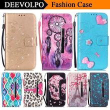 DEEVOLPO Wallet Flip Fundas PU Leather Case for LG Leon C40 H340 LTE H340N H324 Fashion Stand Magnetic Cover Card Slot Capa D03Z
