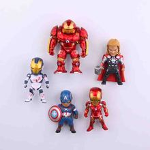 5pcs/lot CartoonThe Avengers series anime characters Marvel Hero  fridge magnets Toy Figures Refrigerator Decoration