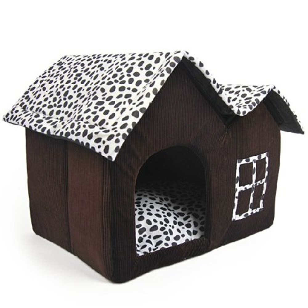 Tfbc-Роскошные High-End Двухместный дом любимчика Brown Dog номер 55x40x42 см ...