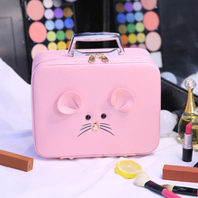 New Fashion Cosmetic Case 2019 Female Portable Professional Cosmetic Bag Women Cute Storage Bag Travel Toiletry Makeup Bag hot sale fashion female cosmetic bag beauty case women clear waterproof storage makeup bags travel portable clutch fashion tools