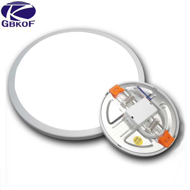 AC 220V Ultra Thin Round LED Panel Light 6W 8W 15W 20W Aluminum Ceiling Recessed Downlight open hole adjustable White 6000-6500K стоимость