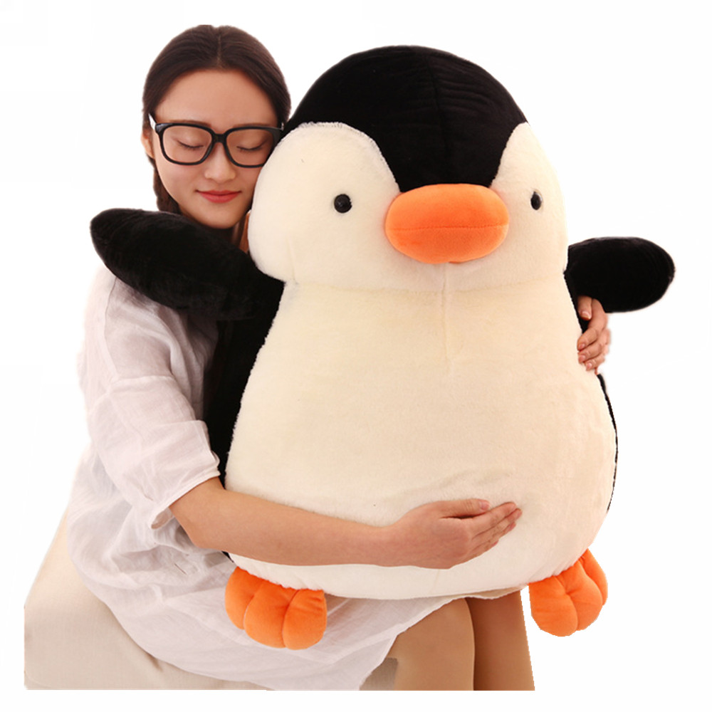 Fancytrader 28'' Soft Plush Polar Penguin Toy Giant Stuffed Animal Penguins Doll 70cm Nice Kids Gifts Real Pictures fancytrader simulation dog toy plush soft stuffed large animal shar pei dogs doll for kids gifts