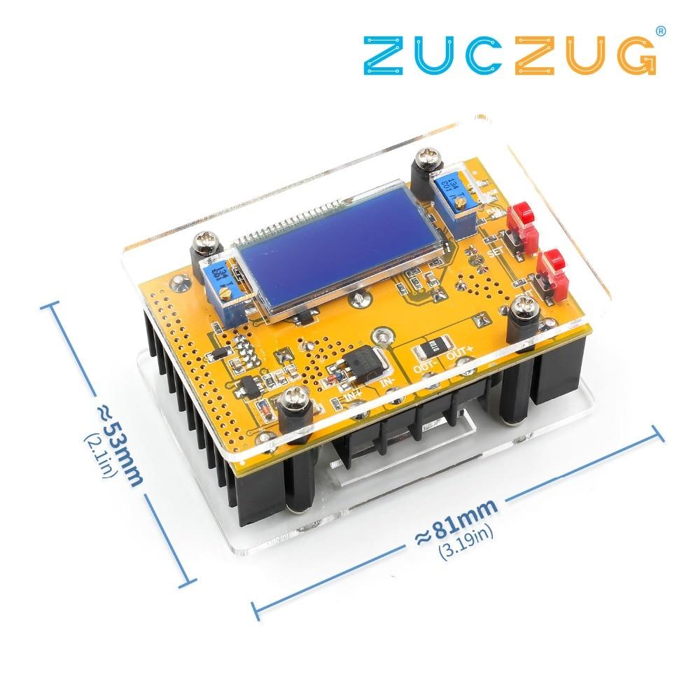 10A DC-DC Einstellbare LCD Dual Display CC CV Schritt-down Power Supply Module Kurzschluss Schutz + Fall DC-DC boost Konverter