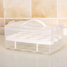 SBLE plastic Egg kitchen egg storage box 24 Grid Eggs holder transparent storage organizers egg storage Container