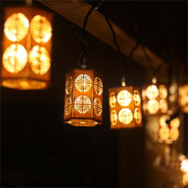 Muqgew Led Small Ianterns Lights Lanterns Wooden Crafts Lantern