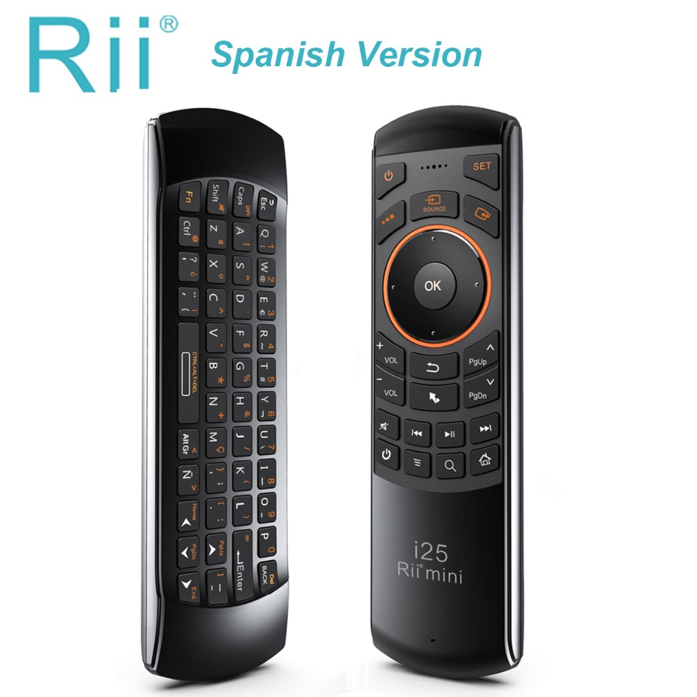 Original Rii i25 Wireless Air mouse 2.4Ghz Mini Fly Mouse Keyboard with IR Remote Learning for Samsung Smart TV Android TV BOX