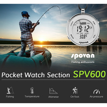 2019 New Packet Watch for Man Fishing Running Digital Smart Clock Stainless Steel Air Pressure Temperature Military Quality Saat