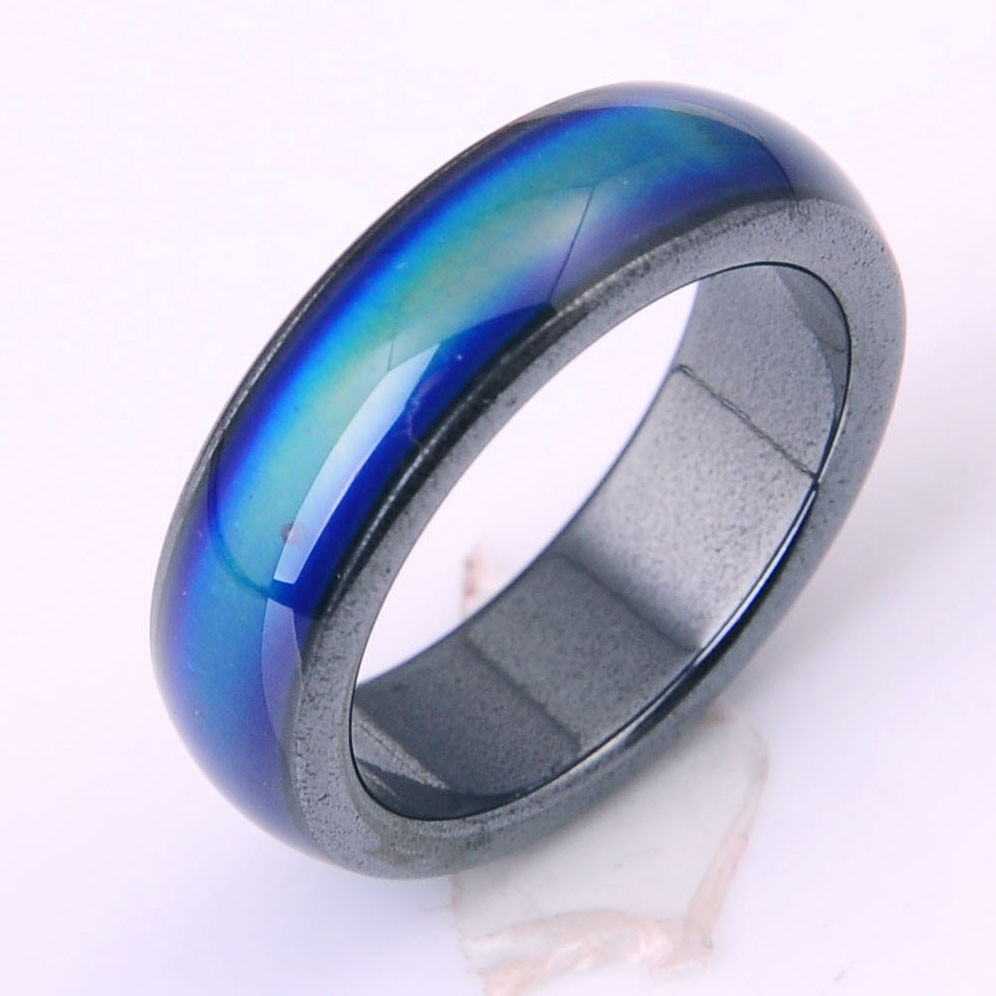 New Natural Magnetic Mood Rings Multicolored 6mm Wide