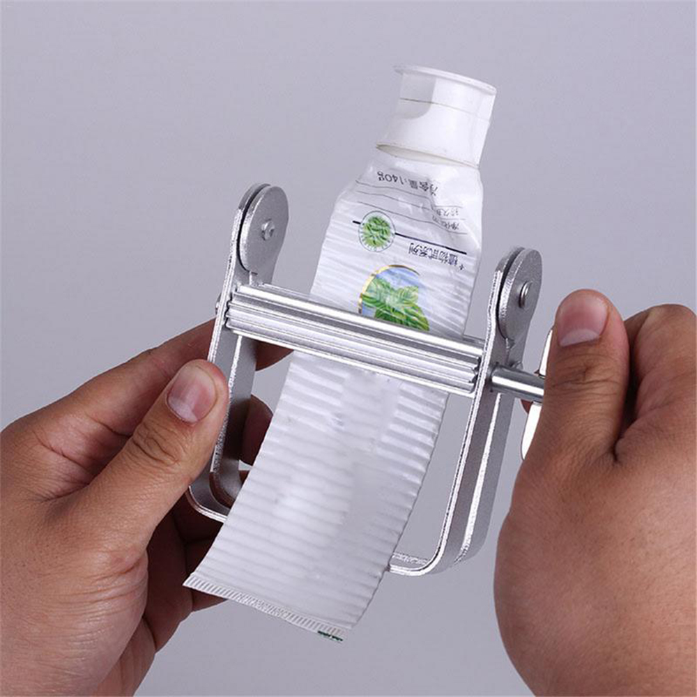 Bathroom Tube Rolling Holder Toothpaste Squeezer Aluminum Tooth Paste Dispenser Tool Supplies For Home Bathroom Accessories