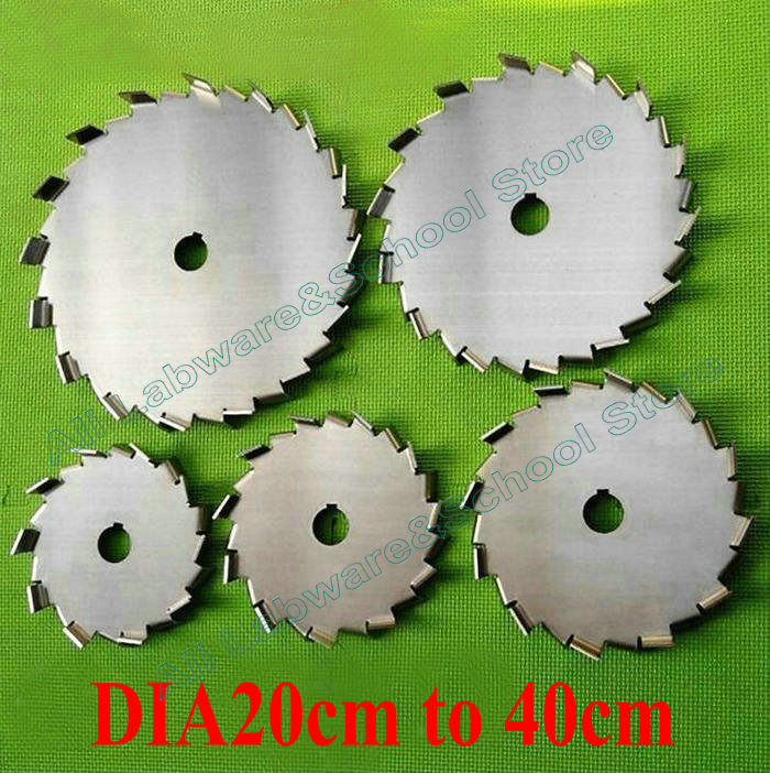 1pcs lab stainless steel DIA20cm to 40cm saw tooth type dispersion disk round impeller dispersing Propeller