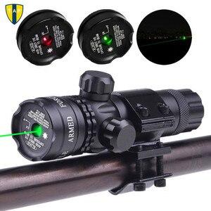 Тактическое лазерное крепление зеленая Красная точка лазерный прицел Охотничья винтовка Airsoftsport прицел 20 мм рельсовая и баррель крепление ...