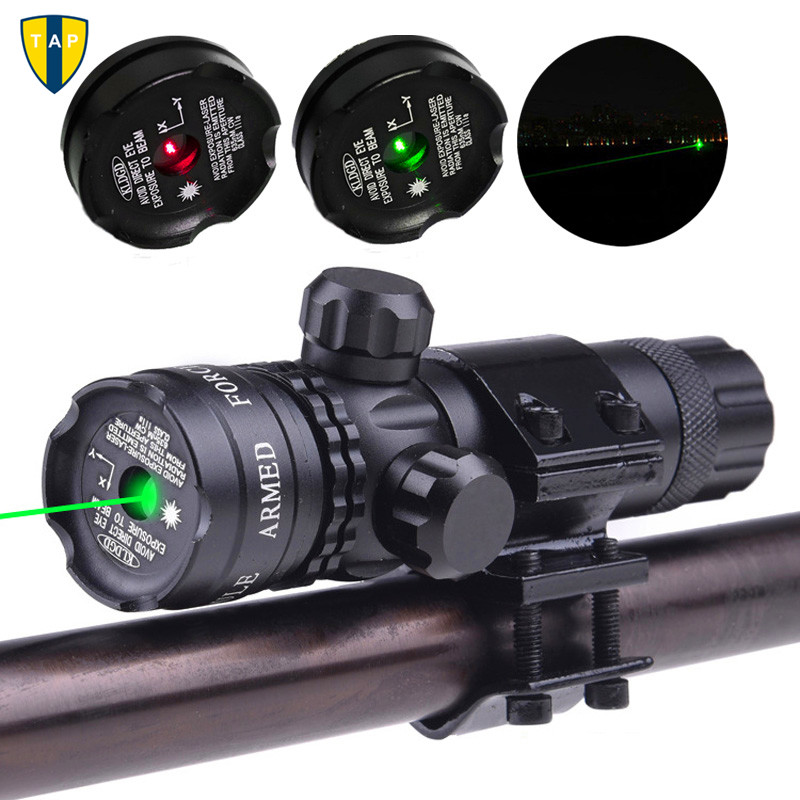 Tactical Laser Mount Green Red Dot Laser Sight Rifle Hunting Airsoftsport Gun Scope 20mm Rail & Barrel Mount Cap Pressure Switch Good Companions For Children As Well As Adults Sports & Entertainment Hunting