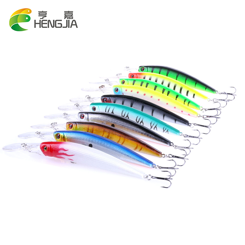 10pcs New 14.5cm 14.7g Big Minnow Fishing Lures Deep Sea Bass Lure Artificial Wobbler Fish Swim Bait Diving 3D Eyes 1pcs 15 5cm 16 3g wobbler fishing lure big minnow crankbait peche bass trolling artificial bait pike carp lures fa 311