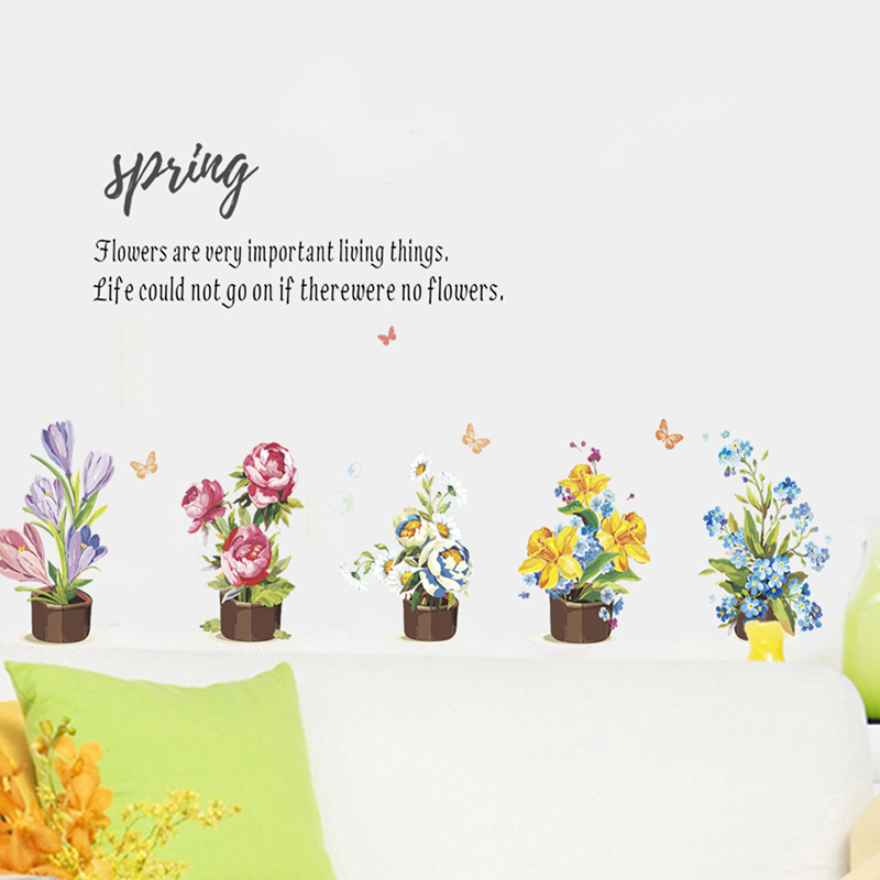 spring quotes flower wall stickers for wall home living dining