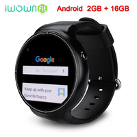 iWOWNfit I4 Pro Smart Watch Phone RAM 2GB + ROM 16GB Android 5.1 Smartwatch GPS Heart Rate Monitor Bluetooth WIFI 3G MTK6580