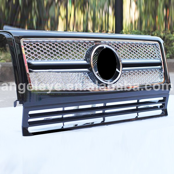 For Mercedes Benz G CLASS W463 G350 G400 G500 G55 Front Grille Auto Parts 1999 2013 Year