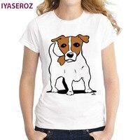 IYASEROZ Summer New Arrival Women S Cartoon T Shirt Short Sleeve White Customize Tees Cute Dog