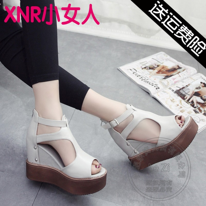 Wedge Pu Buckle Strap New Arrival Low Heel Shoes font b Women b font Wedge Shoes