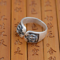 Deer King Crown Ring S990 Silver Jewelry Wholesale Silver Antique Style Opening Gift