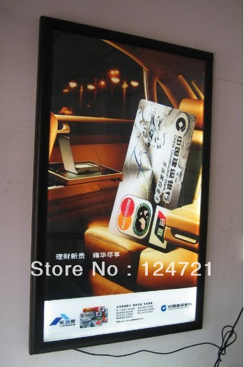 цена на Movie theater posters,led advertising black color light box display sign board module free shipping 8pcs/lot wholsale