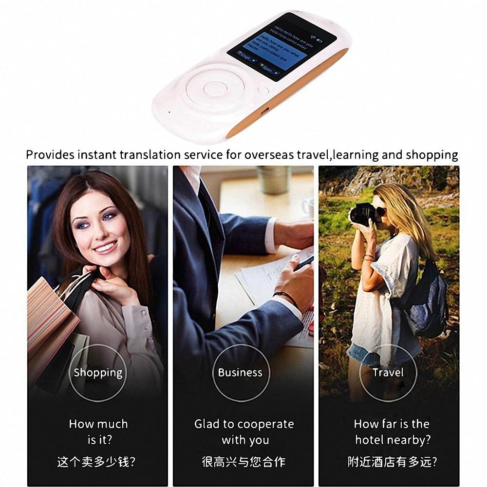 Intelligent Language Voice Translator WiFi Instant Portable Translator 2 Way Real-Time Translation Traveling Meeting Translator 15