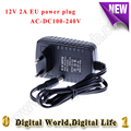 Tipo ue ac 100-240 v para dc 12 v 2a adaptadores de alimentação cctv camera ac tira conduzida/dc adaptador de tomada de poder 5.5x2.1mm