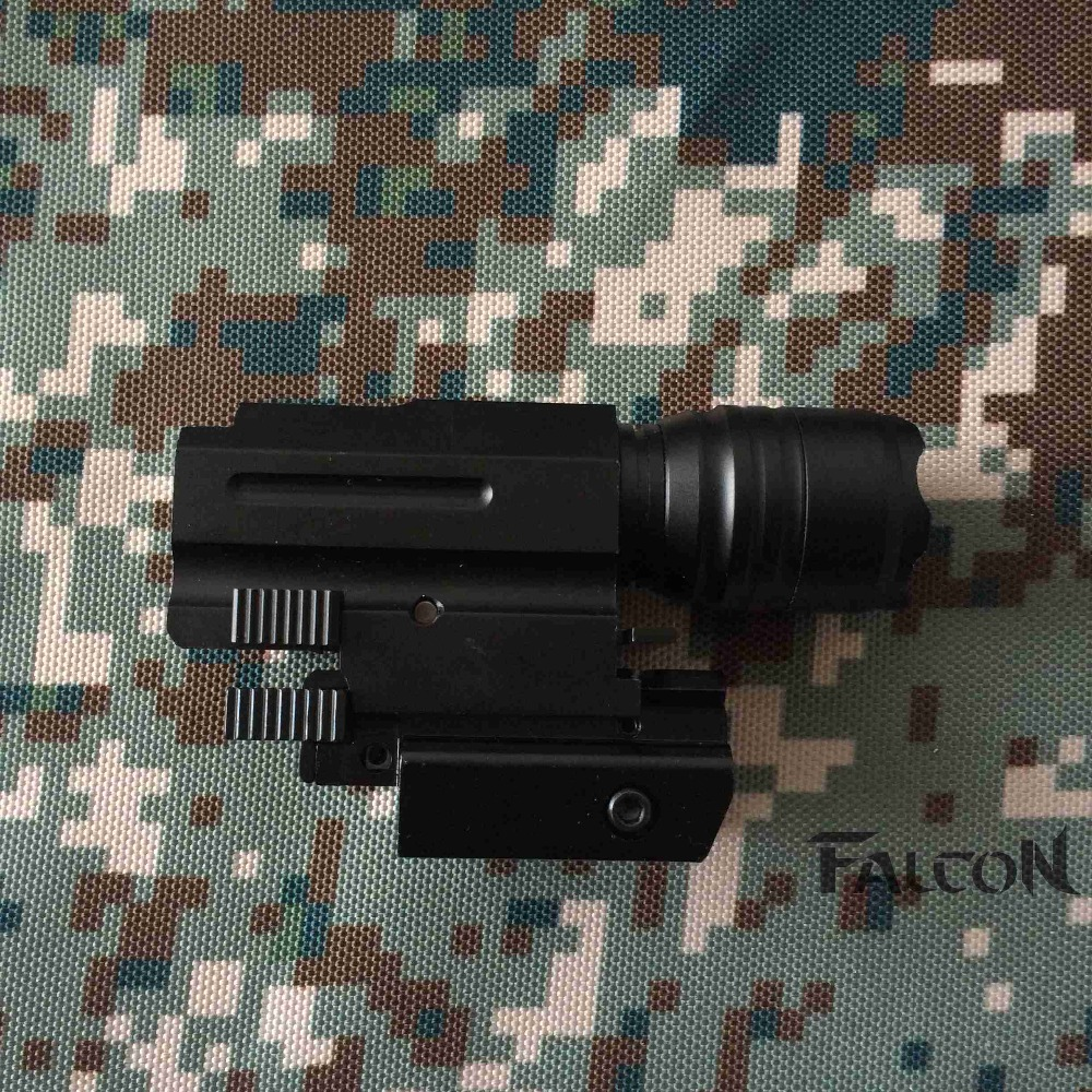 2016 NEW Tactical Red Dot Laser Sight LED Flashlight Combo Hunting Laser for Pistol Guns GL