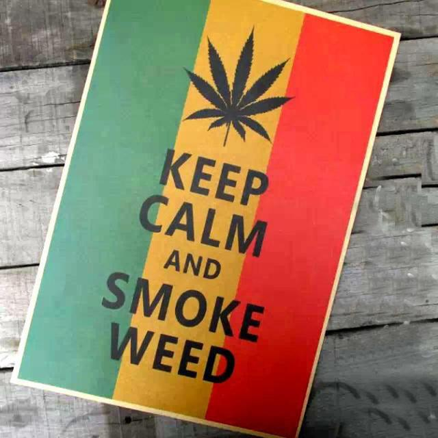 Vintage Classic Posterkeep Calm And Smoke Weed Retro Wall Art Crafts Paper Paint