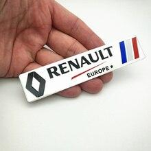 FDIK  for Renault Metal Wheat logo car emblem Aluminum paste Fender Side Sticker Koleos KADJAR Fluence TALISMAN MEGANE