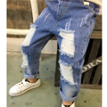 New 2017 Boys Girls Jeans 2-7Yrs Children Broken Hole Jeans Pants Fashion Baby Children Boy Jeans High Quality Kids Trousers
