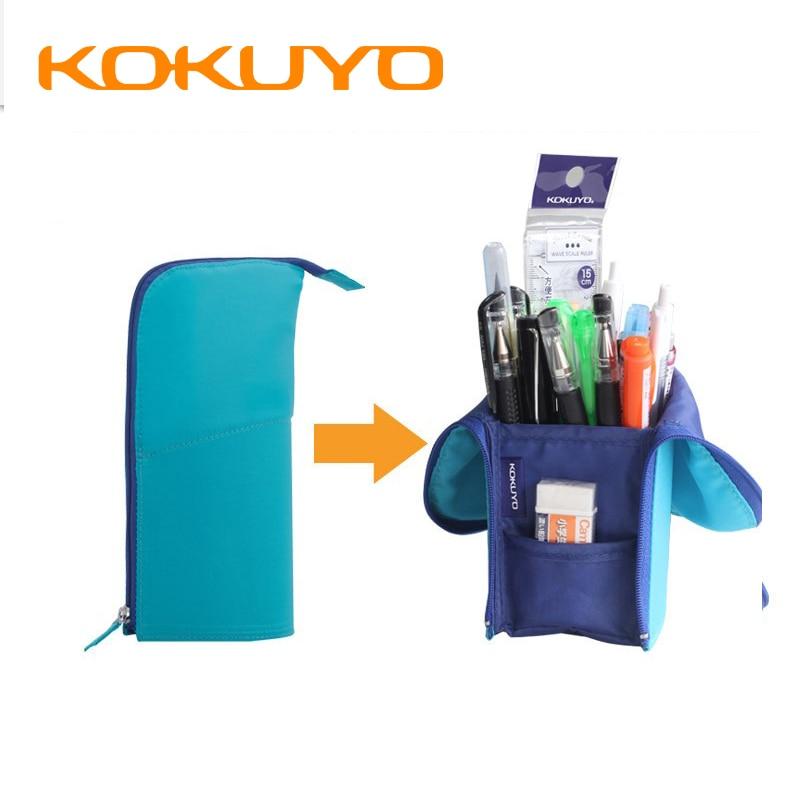 KOKUYO Pen Case Pen Holder Pencil Case Dual Use   Fabric Pen Pouch Japanese Stationery Pen Bag Multifunction Holder NEO CRITZ-R