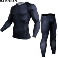 Newest Fitness Compression T Shirt Men 3D Printed MMA Crossfit Muscle Mens Shirt Leggings Base Layer