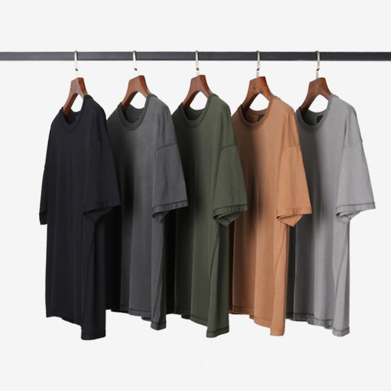 Summer Inside Out Vintage T-shirt Streetwear Hip Hop Short Sleeve Raglan Cotton Tee  Five Colors