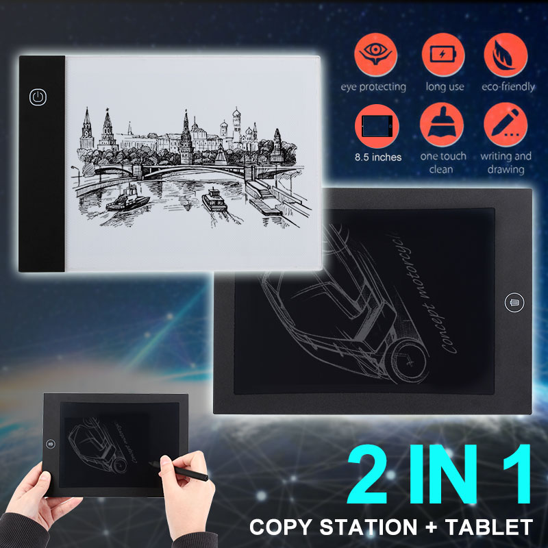 A4 <font><b>LED</b></font> Graphic Tablet Writing Painting <font><b>Light</b></font> Box Tracing Board Copy <font><b>Pads</b></font> Digital Drawing Tablet Artcraft <font><b>A5</b></font> Copy Table <font><b>LED</b></font> Board image