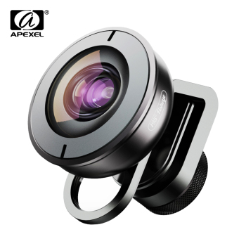 APEXEL High quality mobile lens HD 195 degree super fish eye fisheye lentes 4k phone camera lenses for iPhone 7 8 X Xiaomi phone