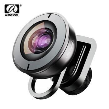 APEXEL High quality mobile lens HD 195 degree super fish eye fisheye lentes 4k phone camera lenses for iPhone 7 8 X Xiaomi phone