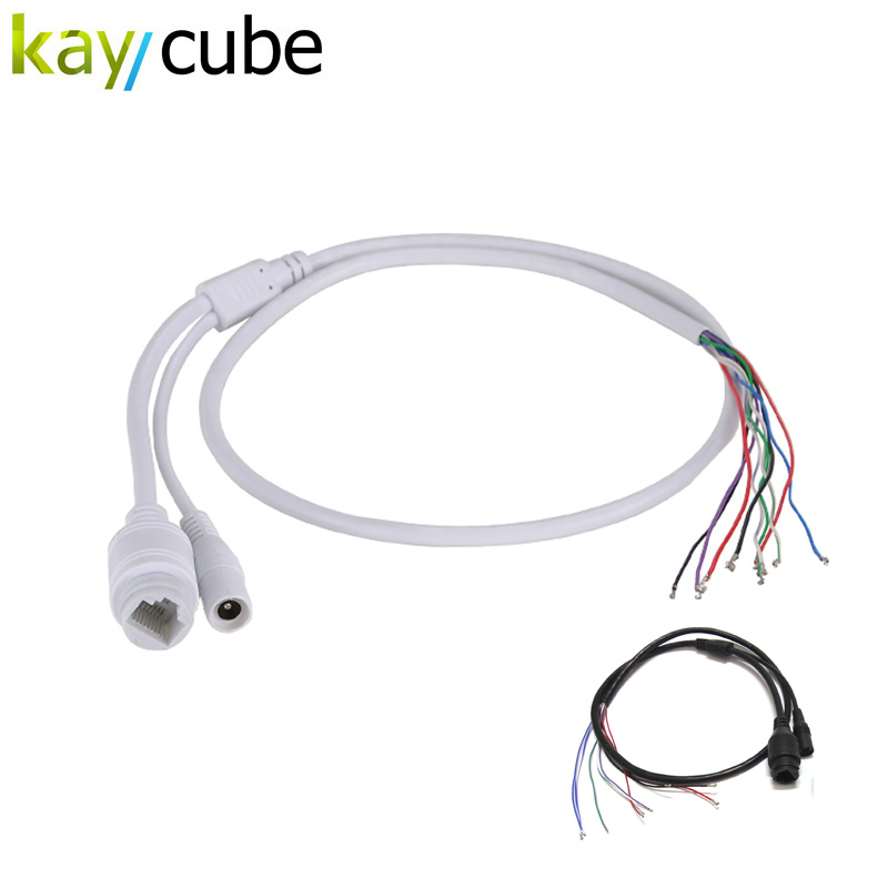 With Waterproof Cap Waterproof Surveillance Camera Network Line Rj45+Dc Light Monitor 9-Pin Network Camera Line IP Tail Cable digoo dg bb 13 mw 9 99ft 3 meter long micro usb durable charging power cable line for ip camera device