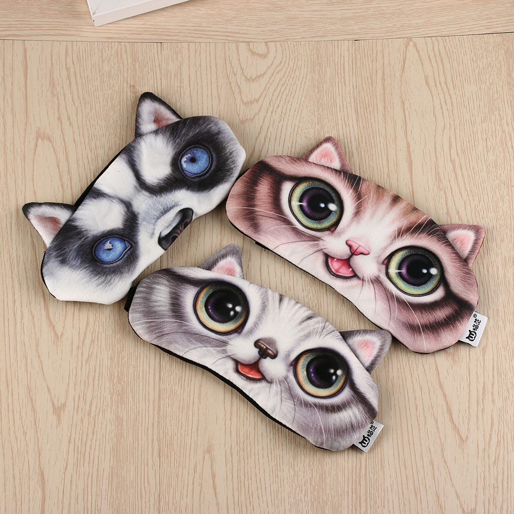 1PC 3D Sleeping Eye Mask EyeShade Cover Sleeping Patch Sleep Rest Travel Aid 2