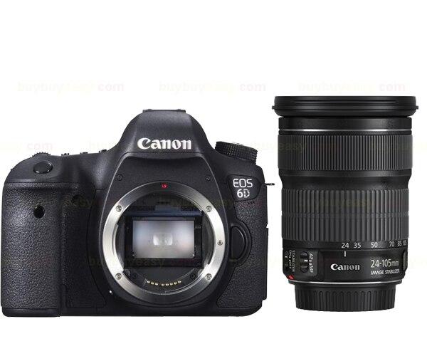 Nouveau corps d'appareil photo reflex numérique Canon EOS 6D 20.2 MP avec EF 24-105mm f3.5-5.6 IS Kit d'objectif STM