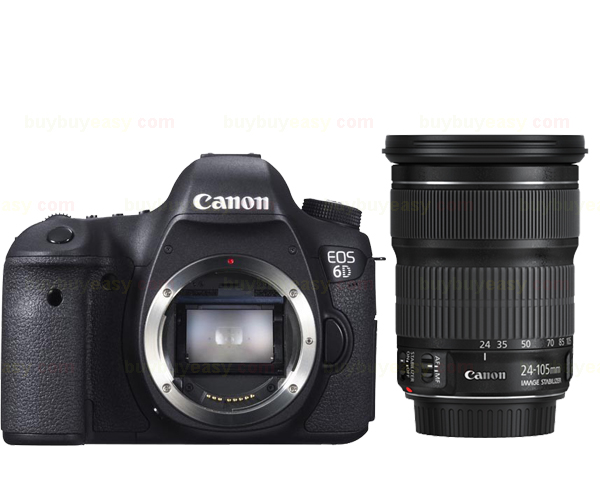Nuova Canon EOS 6D 20.2 MP Fotocamera DSLR Corpo Con EF 24-105mm f3.5-5.6 IS STM Lens Kit