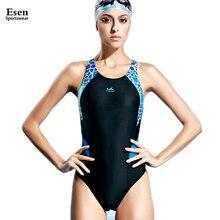 2016 Nuevas Muchachas Linda jovencita Atleta Profesional de trajes de baño sexy triángulo sin espalda Femenina Competencia de natación de Buceo traje de baño